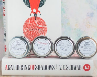Shades of Magic Travel Tin Four Pack - Book Candle - Book Gift - Book Lover - Bookish