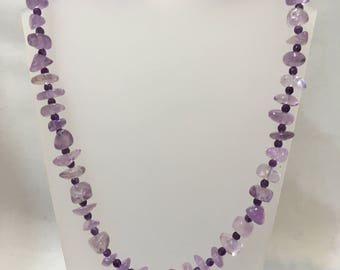 Rough tumbled amethyst beads