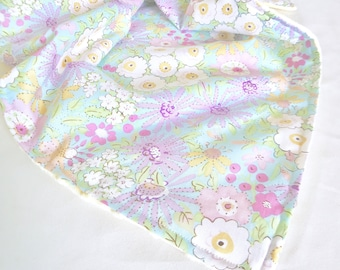 New Flower Print Minky Baby Blanket