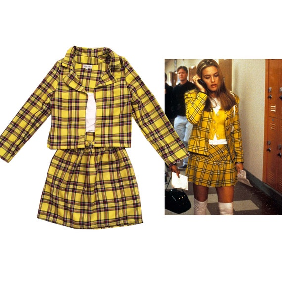 SALE Cher's Clueless Outfit Yellow Tartan Plaid Fancy