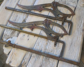 Victorian Curtain Rods , Antique Swing Arm Curtain Rods , Rare Hardware ,FREE SHIPPING!!