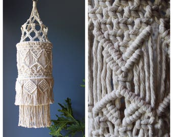 Macrame Lantern, Macrame Wedding Decor, Boho Nursery Decor, Macrame Decor, Bohemian Wedding Decor, Macrame Nursery
