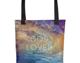 For God So Loved Tote bag