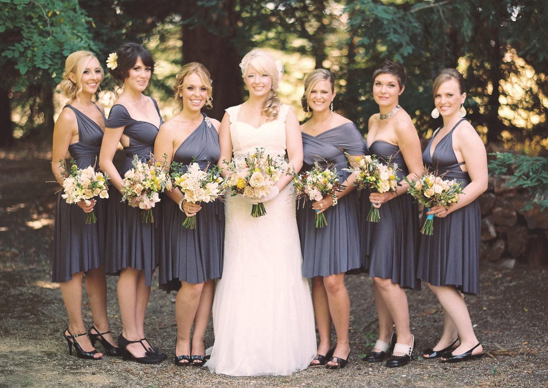 Charcoal gray bridesmaid dress zoom ombrellifo Choice Image