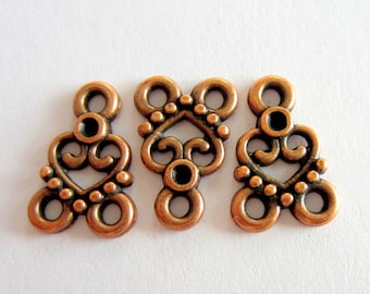 20 Copper connectors jewelry  Pendants Antique copper  jewelry findings  links 15mm x 11mm  674Y-YY3