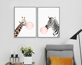 Modern Animal Poster