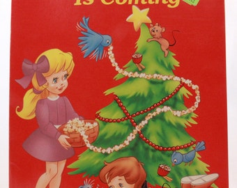 New - Old Stock 1992 Christmas Is Coming Coloring & Activity Book - Golden Books