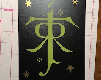 mini chalkboard sign - Tolkien (B)