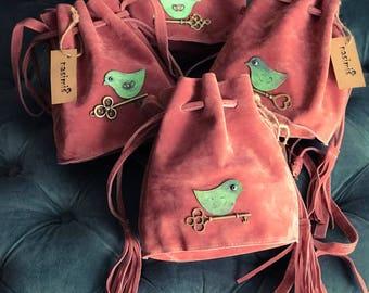 Birds Small Bucket Bag