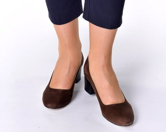 1453 Raisa Large size Large Feet low heels women shoes/ wedding shoes / beautifully brown shoes / high quality & comfortable