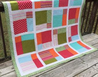 Quilt Handmade Quilt Modern Quilt OOAK