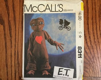 McCall's 8311 Children's E.T. The Extra-Terrestrial Halloween Costume Sewing Pattern, Cut, But Complete, Size XS, 2-4, Costume Pattern