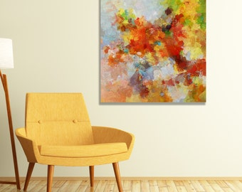 Colorful Abstract Art Print, Giclee Print of Abstract Painting, Abstract Wall Art, Canvas Print, Contemporary Art for Wall Decor