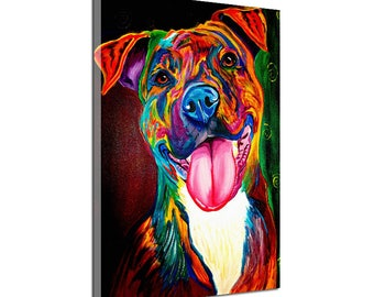 Dog Oil Painting Canvas Print