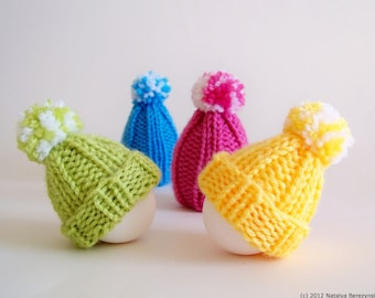 Easter Knitting Pattern, Easter Egg Hat Knitting Pattern, Easter Patterns, Egg Cozy, Egg Hat, Egg Cosy, Egg Warmer, Easter Ornament Patterns