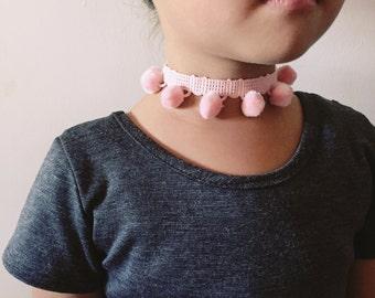 Toddler/Kids Baby Pink PomPom Choker