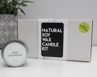 Soy Wax DIY Candle Making Kit - Sweet Lemongrass