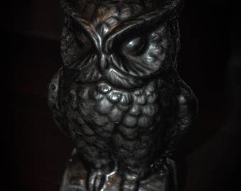 Black Owl Candle Paraffin