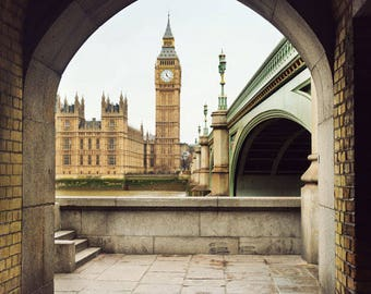 London photography, London art print, England photo, Big Ben, home decor, London picture, British art - Ben