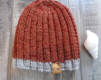 Childs knit ribbed hat