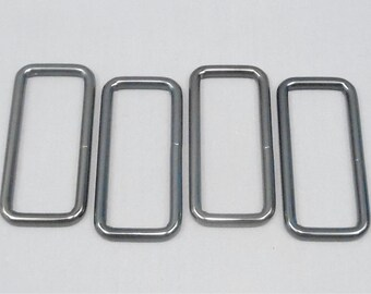 20 Gunmetal 2 Inch Zinc Alloy Rectangle Rings