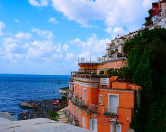 "Amalfi Coast Print, Coastal Photography, Positano photo, Large Wall Print, Home Decor, ""Colors of Positano"""
