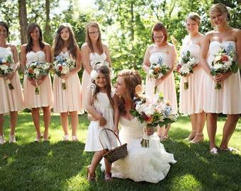 Chiffon Short Circle Skirt Convertible Wrap Dress- Choose your Fabrics~ All Size, Plus Size, Maternity, Bohemian Bridesmaids, Spring