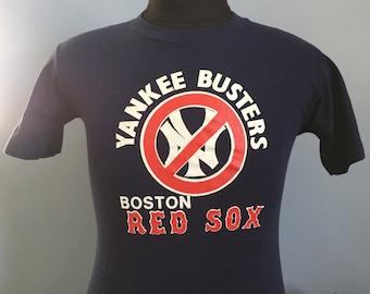 80s Vintage Boston Red Sox New York Yankee Busters mlb baseball T-Shirt - SMALL