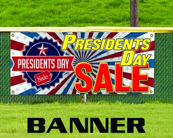Presidents Day Sale Tag Holiday Event Business Advertising Vinyl Banner Sign