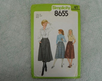 Simplicity Sewing Pattern 8655 gathered skirt from 1978 size 10