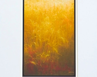 Abstract Wheat Field print