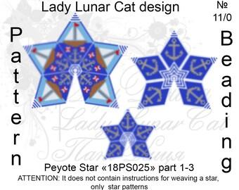 Sea peyote patterns, Ocean peyote, Anchor peyote, Stars Peyote pattern, Sailboat peyote, Peyote stitch, Beading patterns