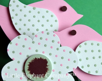 Bird and Blossom Quilt Clips - set of 3