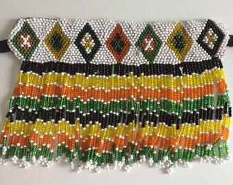 festival necklace - gypsy - tribal - vintage kuchi -  beaded necklace