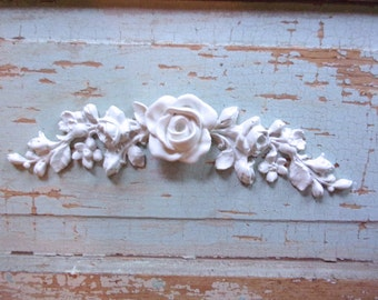 Shabby Chic Rose FURNITURE APPLIQUES Flexible and Stainable  5.95 No Limit Shipping in the USA