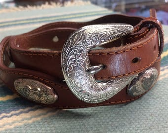 30 heart concho belt