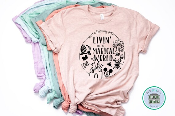 10145f24a Disney Shirts Living In A Disney World Shirt Disney Shirts For Women Disney  World Shirt Disney Shirt Magic Kingdom Shirt Disney