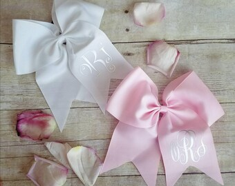 Hair bow- hair tie- monogrammed- personalized.