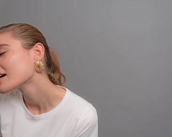80s Door-Knocker Earrings / Chain Link Rope Earrings / Vintage 80s Earrings / Hoop Door-Knocker Earrings / Vintage Accessories