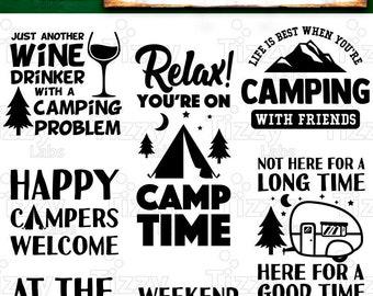 Camping Svg Bundle Set 2 SVG Files - Camping Svg Files for Cricut Camp Svg Files for Silhouette Campers SVG Bundle Commercial Use - 516