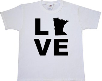 Love Minnesota Youth T-Shirt by Inktastic