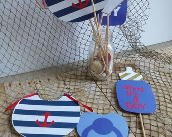 Set of 11 Nautical Photo Booth Props