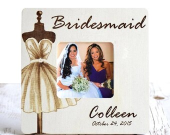 Bridesmaid Frame, Bridesmaid Gifts, Maid of Honor gifts, Maid of Honor Gift, Bridesmaid gift, Maid of Honor frame, Wedding Party gifts