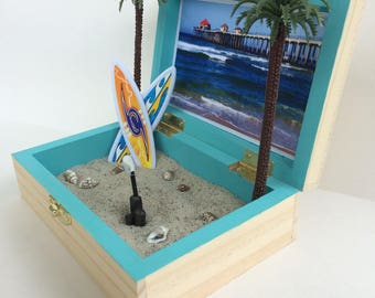 Huntington Beach ~ California ~ Zen Beach Garden ~ Desktop Sand Box