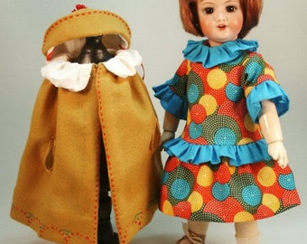 Bleuette patterns for doll clothing - LSDS 1920's patterns - Darling Dress, Cape Hat