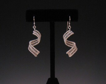 Woven Curl Sterling Silver Earrings