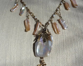 Pearls and more Pearls Necklace—OOAK