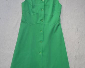 1960s/70 Vintage Green Scooter Dress