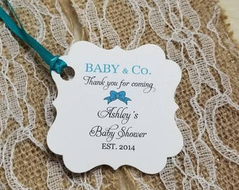 Tiffany favor tags etsy personalized favor tags 2x2 bridal shower tags thank you tags favor tags negle Images