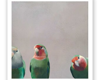 In A Heavenly Sort Of Bliss When Plotting Something Sinister 12 x 12 Art Print - Giclee -  Bird
